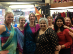 With the Ladies of Aziz and Company, India Importers
